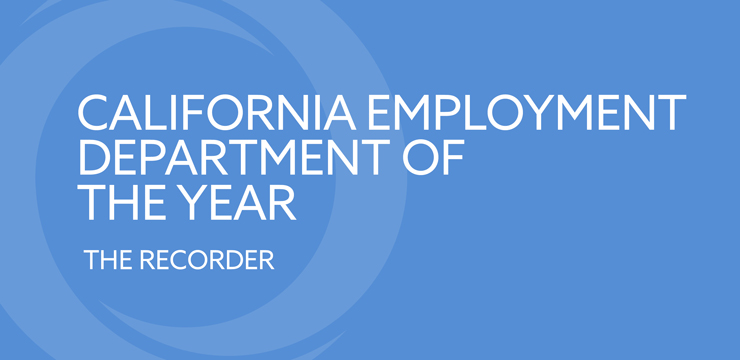 California Employment Department of the Year - The Recorder