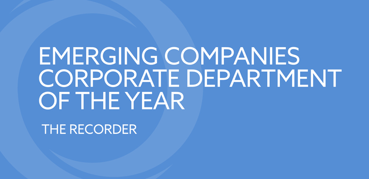 Emerging Companies Corporate Deparment of the Year - The Recorder