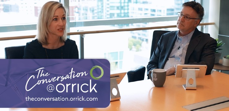 video still of Shannon Yavorsky and Brett Cooper discussing some key issues in responding to COVID-19, including cyber vulnerability