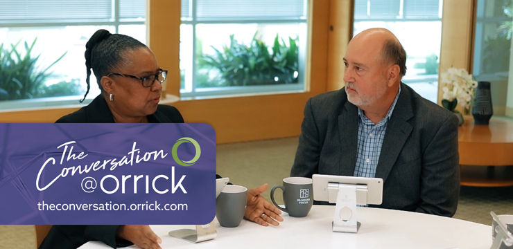 video still of Rhonda Jenkins and Scott Fuller discussing ways to focus on added value in law practice innovation