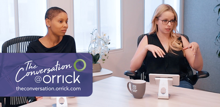 video still of Erin Leach and Alyssa Caridis discussing IP Tips and Best Practices for Startups
