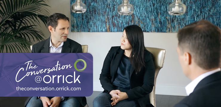 video still of Mike Weil, Cathy Lui and Jim McQuade discussing post-employment restrictive covenants