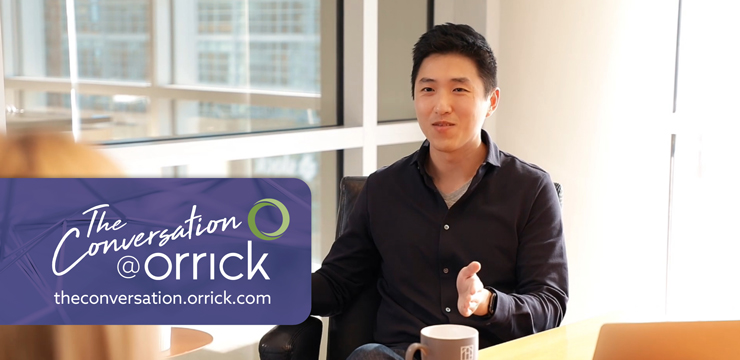 video still of Kaitlin Bagby and Ray Shan discussing Orrick's Series A Ready tool