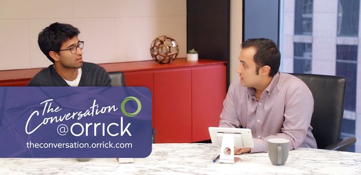 video still of Sujay Tyle and Samir Bakhru discussing Startup Pitfalls: Stock Vesting Acceleration