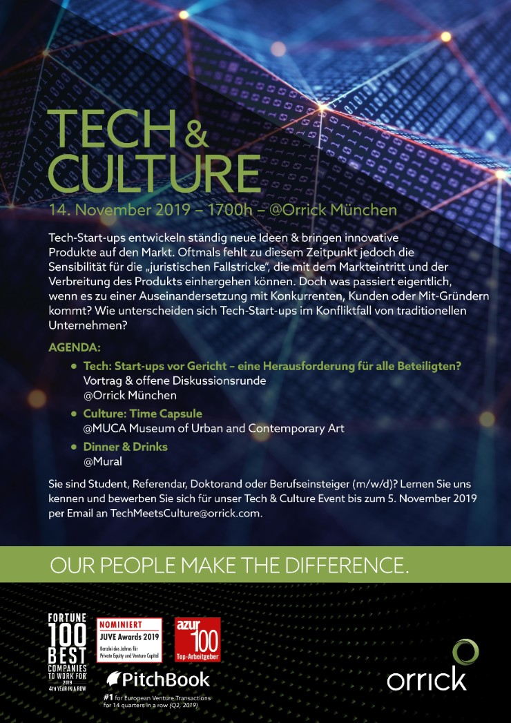 Tech & Culture @ Orrick Munchen