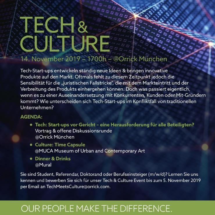 Tech & Culture @ Orrick Munich