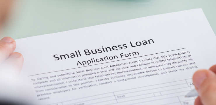 photo of Small Business Loan application being completed
