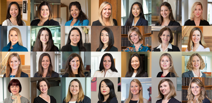 photo collage for International Women's Day at Orrick 2020