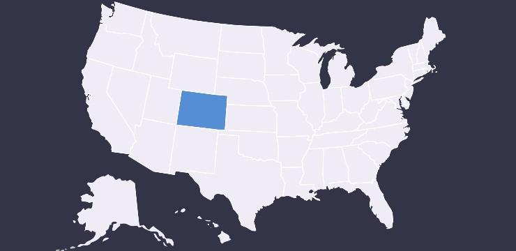 Colorado highlighted on U.S. map
