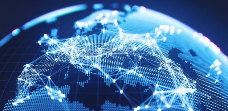 Europe map digital