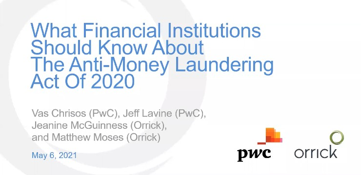 What Financial Institutions Should Know About the New AML Law