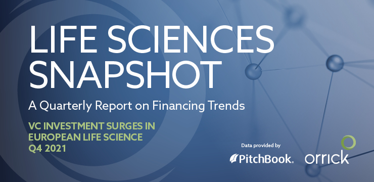 Life Sciences Snapshot – A Quarterly Report on Financing Trends – Q4 2021