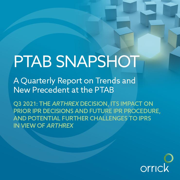 PTAB Snapshot Q3 2021