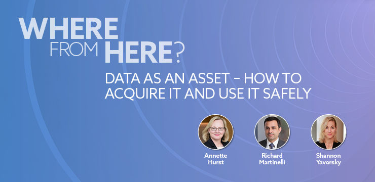 Where From Here? Data as an Assett - How to Acquire It and Use It Safely