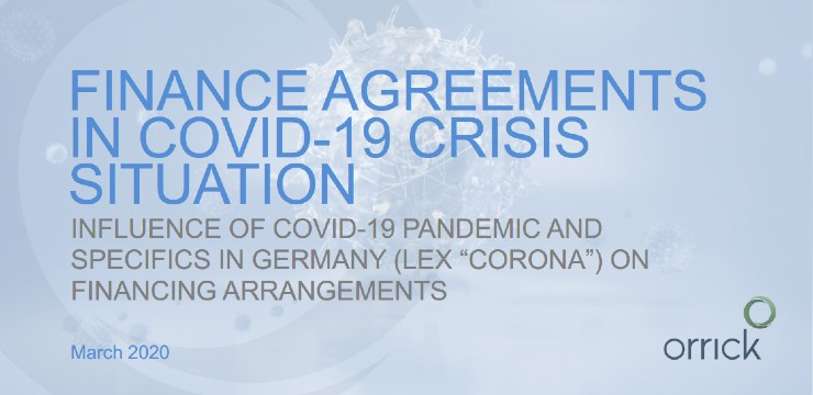 Finance Agreements in COVID-19 Crisis Situation
