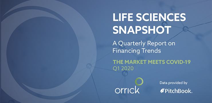 Life Sciences Snapshot - A Quarterly Report on Financing Trends: The market meets COVID-19 - Q1 2020