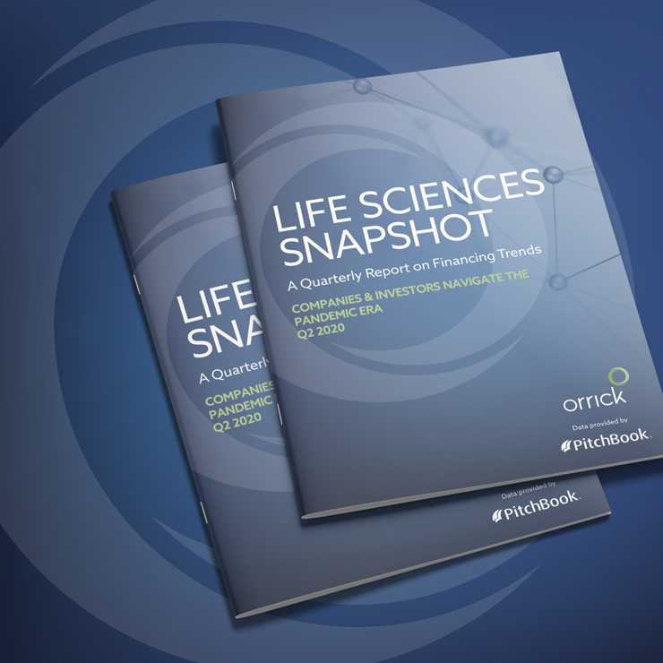 photo of two copies of Life Sciences Snapshot Q2 2020