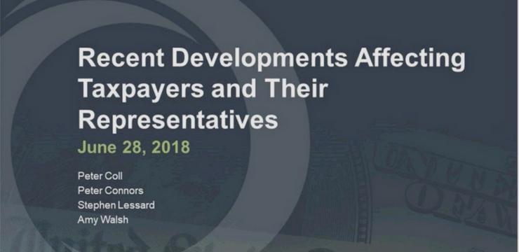 Recent Developments | June 28 2018