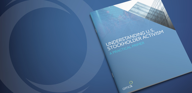 photo of cover of Orrick's Stockholder Activism Primer