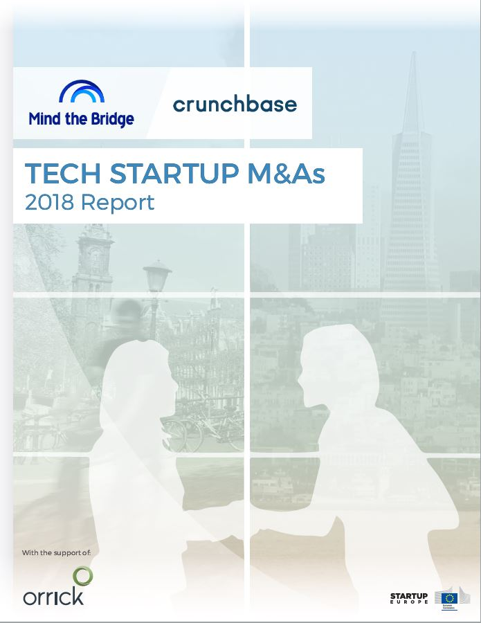 Tech Startup M&As | 2018 Report | Mind the Bridge | crunchbase