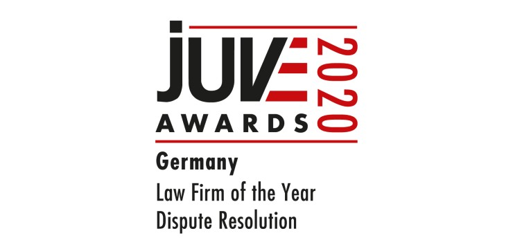 JUVE Awards 2020 Law Firm of the Year for Dispute Resolution