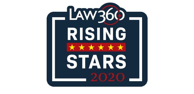 Law 360 Rising Stars 2020 logo