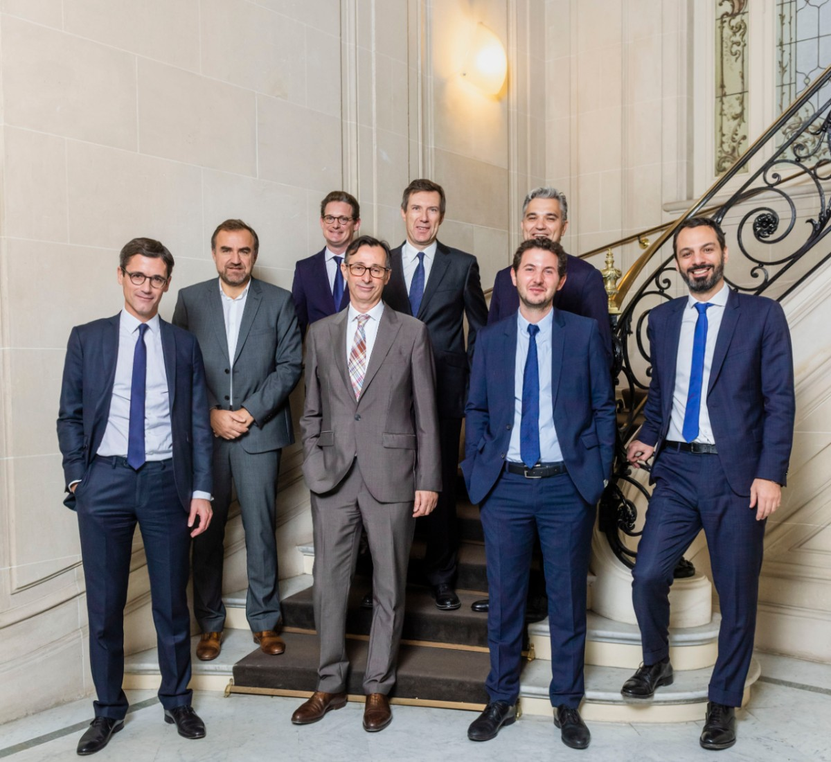 photo of panelists, including Orrick Paris Finance partner Amaury de Feydeau
