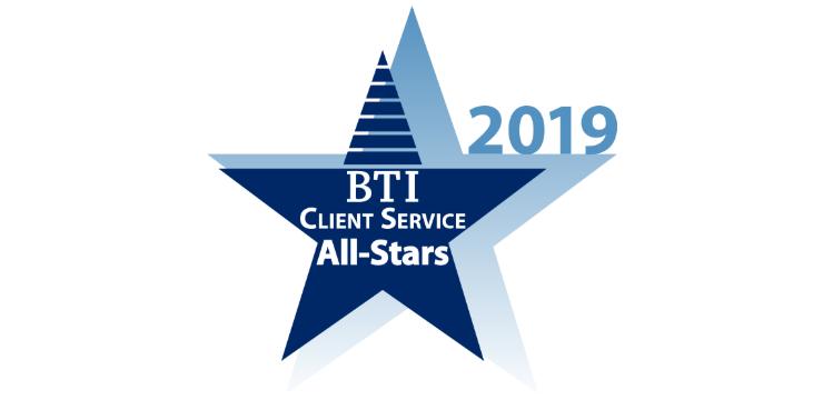 BTI Client Service All-Stars 2018 logo