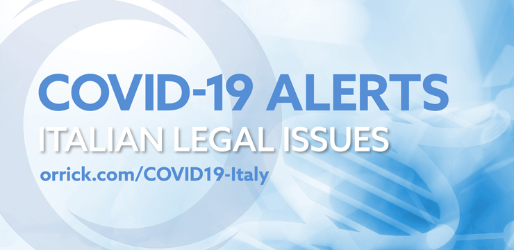 COVID-19 Italy legal alerts