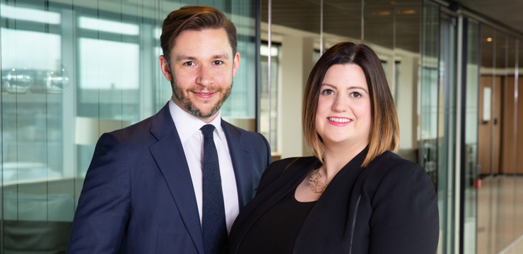 photo of Orrick partners James Lloyd and Keily Blair