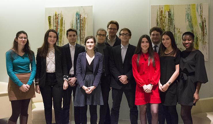 Paris II Pantheon Assas University Banking and Finance Law Master's degree students