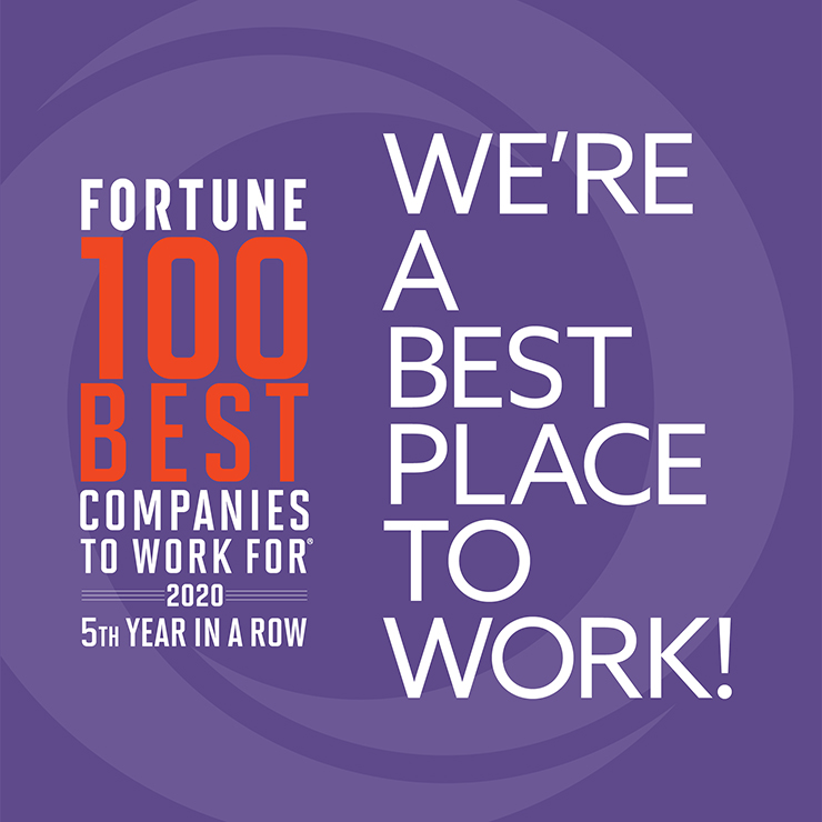 graphic recognizing Orrick as one of Fortune's 100 Best Places to Work