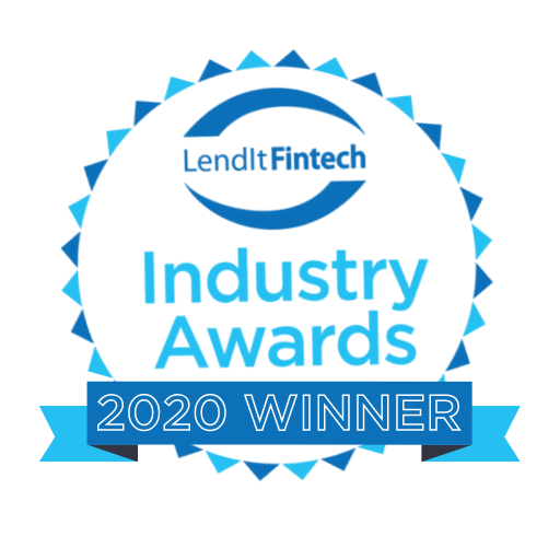 LendIt Fintech Industry Awards 2020 Winner