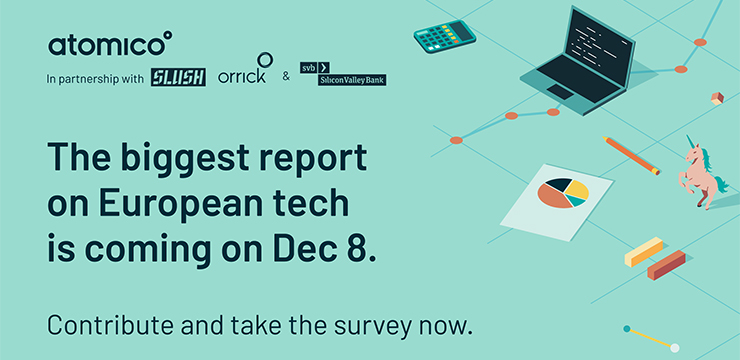 graphic promoting 2020 State of European Tech survey