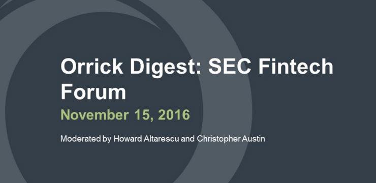 SEC Fintech Forum