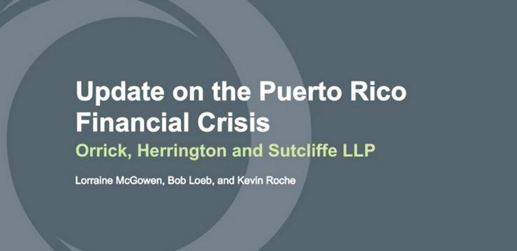 Webinar - Puerto Rico Debt Crisis