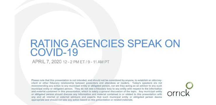Webinar: Rating Agencies Speak on COVID-19